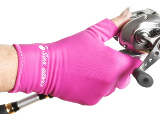 pink sun gloves