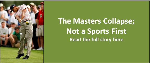 Jordan Spieth's Masters Collapse Not a Sports First nor will it be a Last